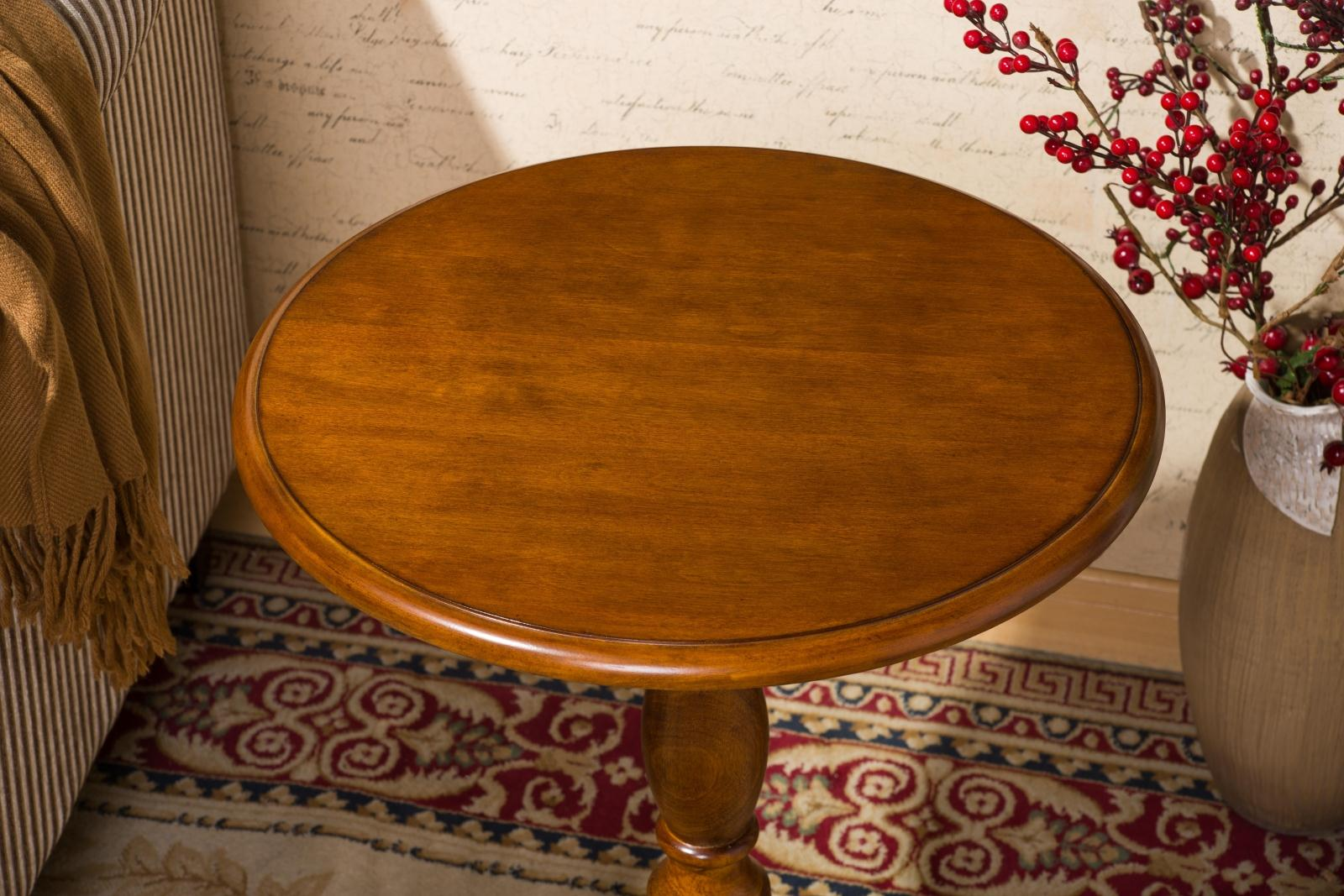 Solid Wood Round Table American Sofa Side Table European Style Simple Round  Coffee Table Small Coffee Table A Few Corner Coffee Phone Table
