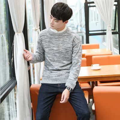 2017 autumn and winter new men's sweater Korean long-sleeved fashion men's sweater creative models men's sweater students