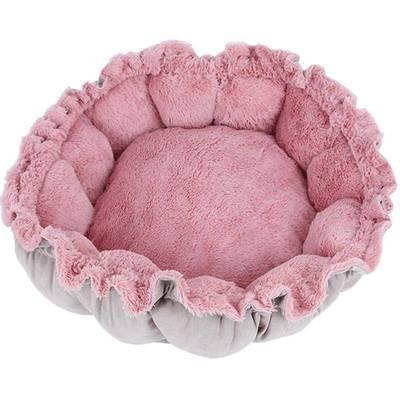 四季通用猫窝四季通用花瓣封闭式深度睡眠保暖小猫床垫子猫咪用品
