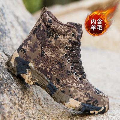 冬季雪地靴男款保暖加绒加厚防水防滑户外大棉鞋中老年高帮棉靴子