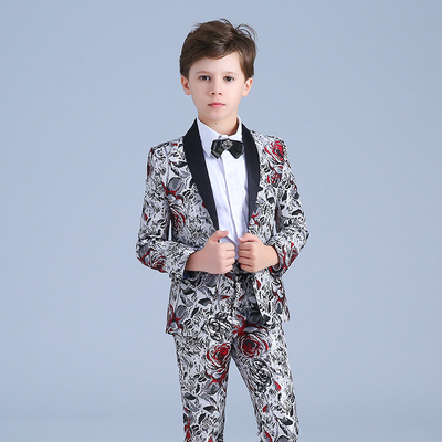 Children's suits fashion models piano models performance shows children's dress suits