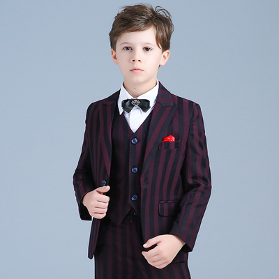 Children's British costumes boys piano costumes host suits
