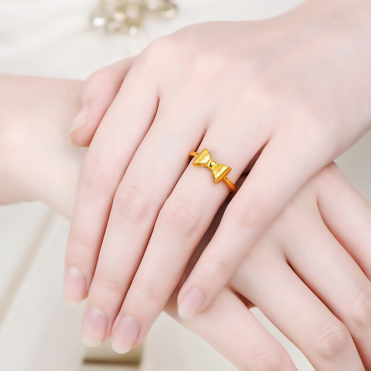 TSL Xie ruilin price gold ring live female models fashion brushed ...