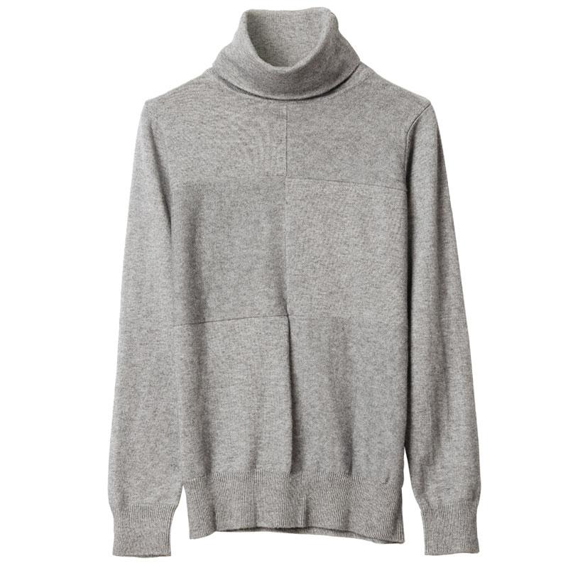 2017秋装新款欧美大码堆堆领毛衣针织衫上衣女套头长袖高领打底衫