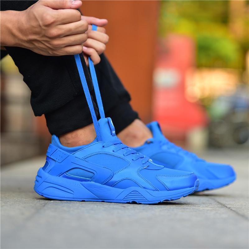 乔丹男鞋 男士纯蓝色运动鞋皮面跑步鞋休闲鞋旅游鞋空军复古系列
