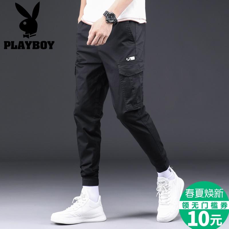 Playboy mùa xuân và mùa thu mới Hàn Quốc kéo dài Quần lửng nam chín điểm Quần lửng ống rộng - 3/4 Jeans