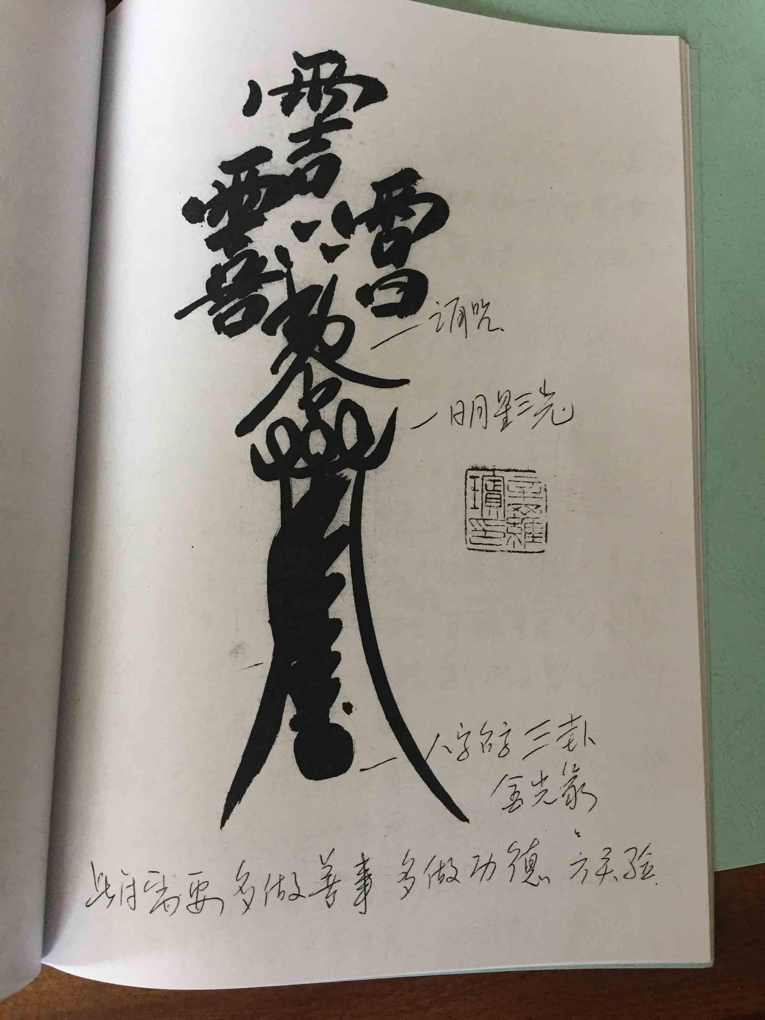 正一鹤道人天师符法手抄本 36页电子版