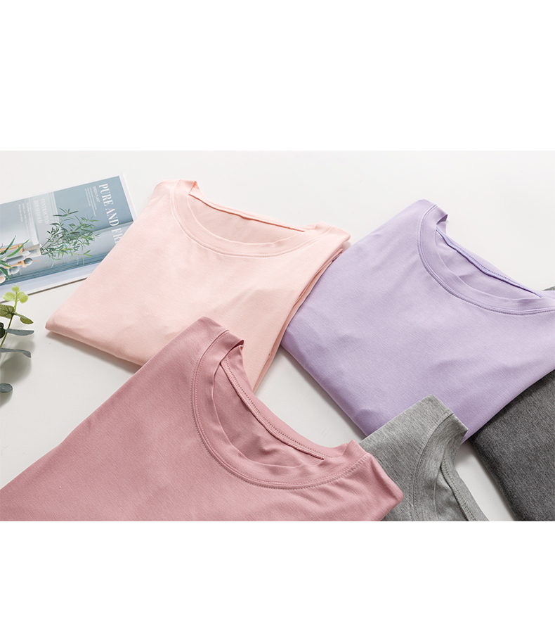 睡衣女夏莫代尔薄款洋装夏季中长版春秋大尺码女士短袖睡裙可外穿详细照片