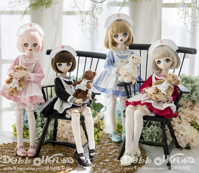 taobao agent [180902][Blue Moon's Doll's House] 4 points BJD/MDD/Giant Baby Wearing Baby Clothes Sailor Collar Little Nurse