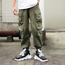 Harem pants for boys and girls, trendy brand trousers, casual loose large size slim trousers, Japanese trend retro overalls