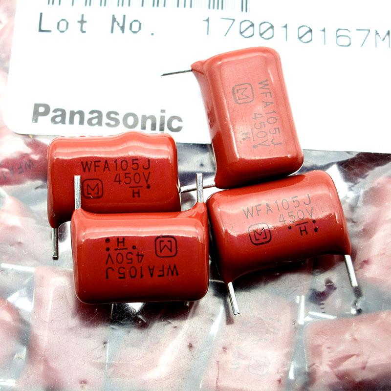 日本进口松下CBB薄膜电容WFA105J450V  450V 1uf 短脚 脚距P15