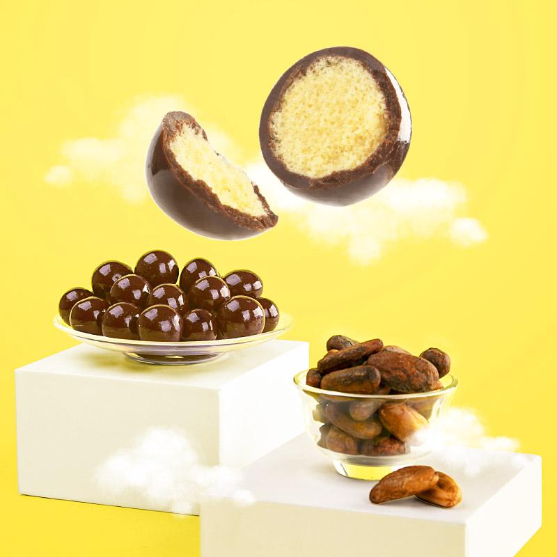 怡浓 麦丽素 夹心巧克力 520g桶装 图2