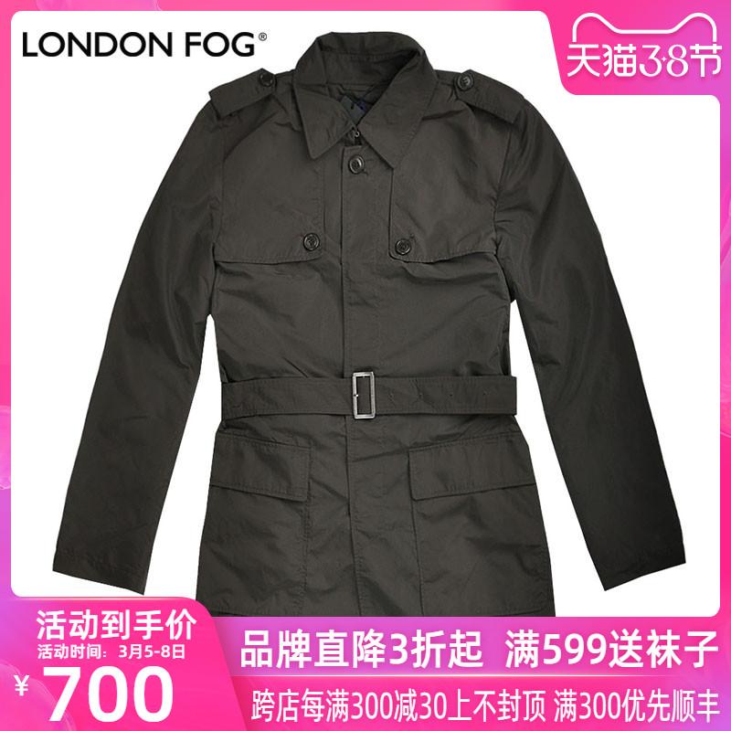 LONDON FOG / London sương mù đích thực mùa xuân thời trang nam áo khoác gió giản dị LS11WF110 - Áo gió