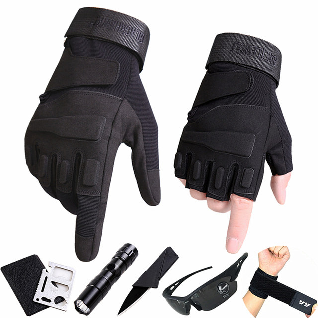 Fitness half finger gloves men's autumn and winter special forces tactics mountaineering outdoor riding motorcycle equipment sports gloves