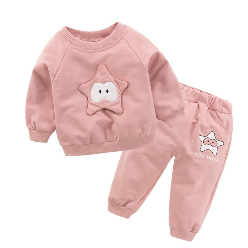2019新款女童1春季0婴儿童2套装小孩3岁男宝宝春装洋气卫衣衣服潮