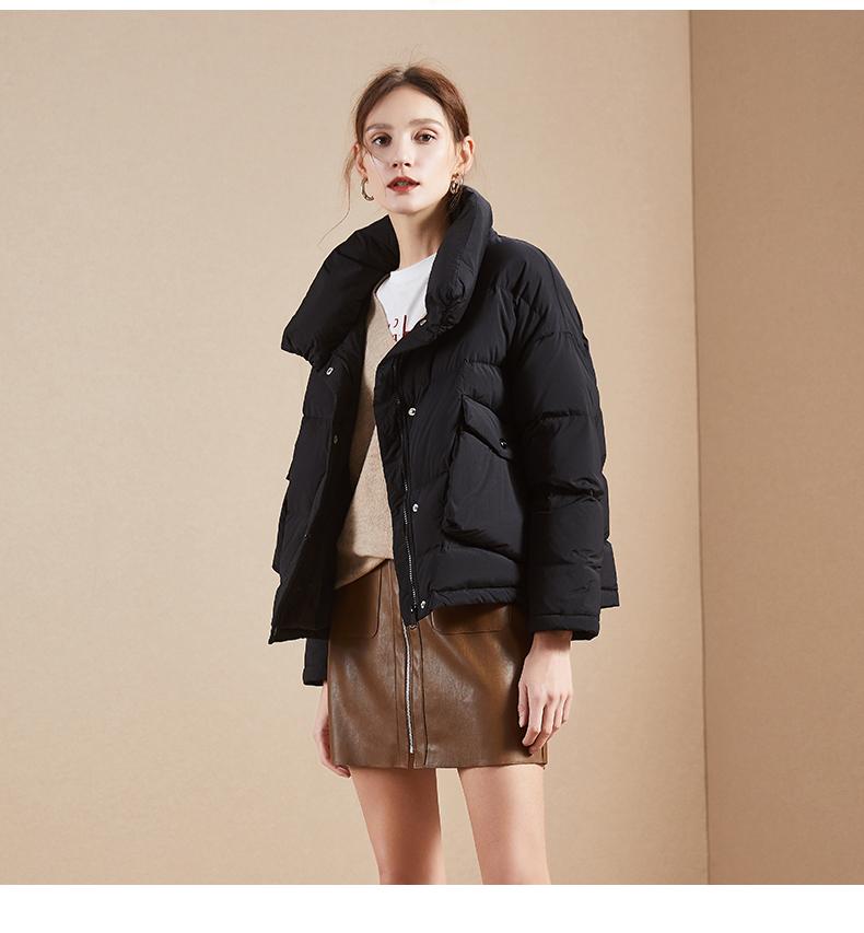 Y面包羽绒服女士拉夏贝尔2018冬季新款秋加厚宽松时尚轻薄短外套