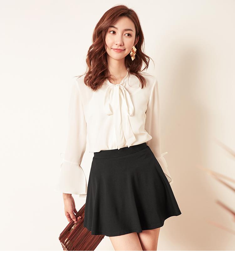 拉夏贝尔半身裙新款高腰小黑裙百搭裙超火百褶裙短裙子