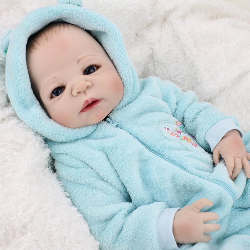 """22"""" Lifelike Full Body Silicone Reborn Baby Boy Doll Dolls ..."""