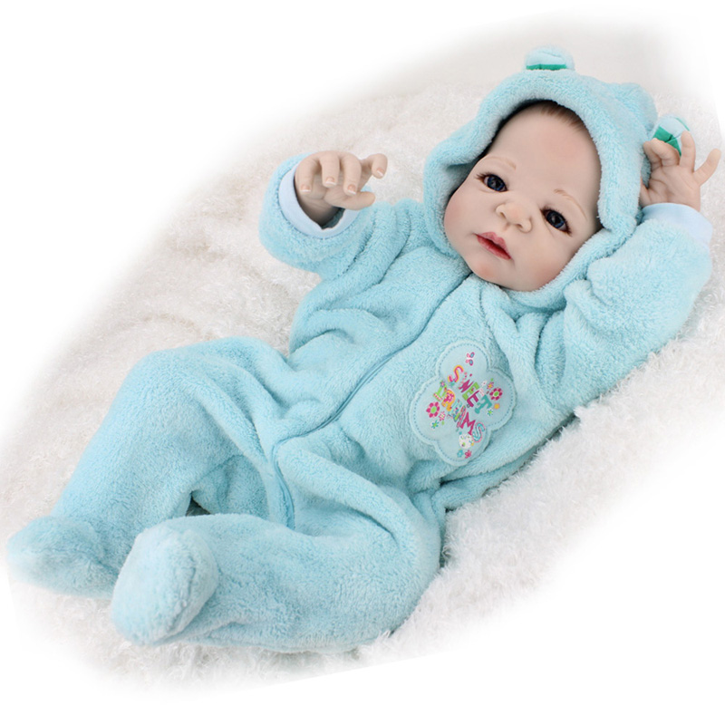 22 Quot Lifelike Full Body Silicone Reborn Baby Boy Doll Dolls