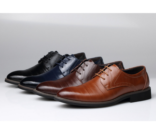 Men s oxford business formal dress leather flat shoes男鞋