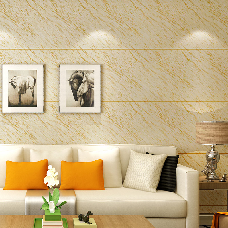 Simulation Marble Wallpaper Simple European Style Living Room TV Background 3D Stereo Bedroom Horizontal Stripes
