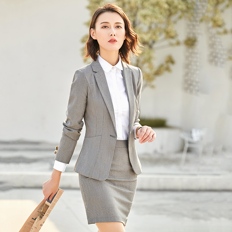 296cff60c4 Occupation suit female 2018 new fashion autumn and winter Business interview  dress suit temperament overalls two-piece suit