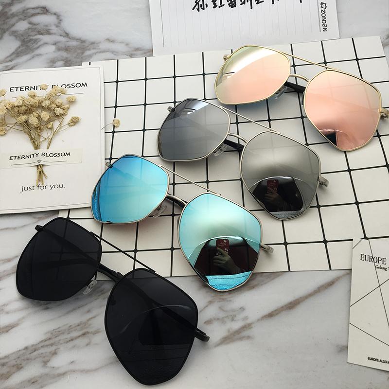 2018新款太阳镜大框挡风墨镜好先生同款式反光太阳眼镜男女蛤蟆镜