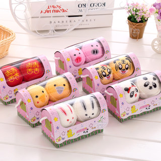 Creative and practical cake towel custom gift children's day promotional activities with hand gift box lovers animals
