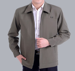 Middle-aged and elderly jacket men's dad spring jackets for the elderly middle-aged men's jackets for the elderly men's spring and autumn jackets