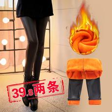 【2条装】靓千纤加绒加厚保暖仿皮裤