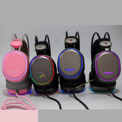 Siberian XL / X0 / XLU headset 7.1 desktop game gaming headset Internet cafe with paragraph pink