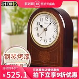 SEIKO Japan Seiko clock New product piano paint alarm function solid wood desk clock simple and compact table clock