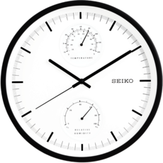 b3fd86af98c SEIKO Seiko clock mute quartz wall clock Living room bedroom office  temperature and humidity clock personality