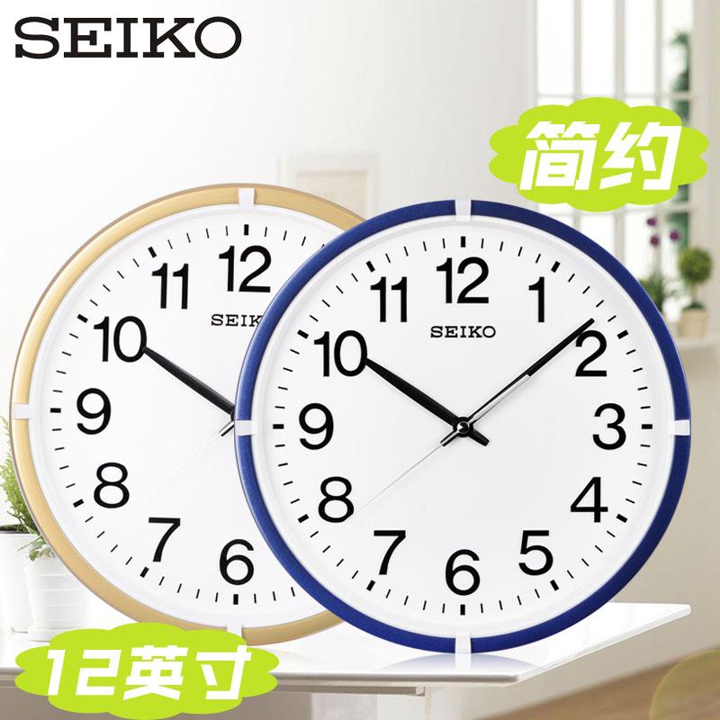 SEIKO япония seiko (компания) часы 12 дюймовый простой гостиная офис классическая круглый существенный кварц настенные часы вешать стол