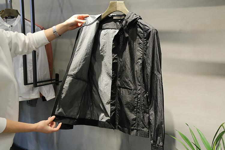 DCLUB 2018 gốc ultra-mỏng quần áo chống nắng nam mùa hè lưới thoáng khí trùm đầu áo khoác da quần áo