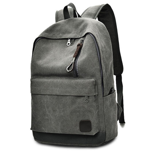 Shoulder canvas backpack junior high school college student bag men and women travel Li large capacity fashion trend Korean version of the computer