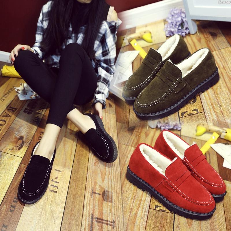 豆豆鞋女鞋子时尚百搭棉鞋加绒保暖休闲鞋