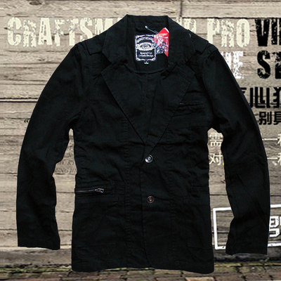 Specials casual self-cultivation suits spring / autumn men's / men's small medium size cotton wash jacket black single West