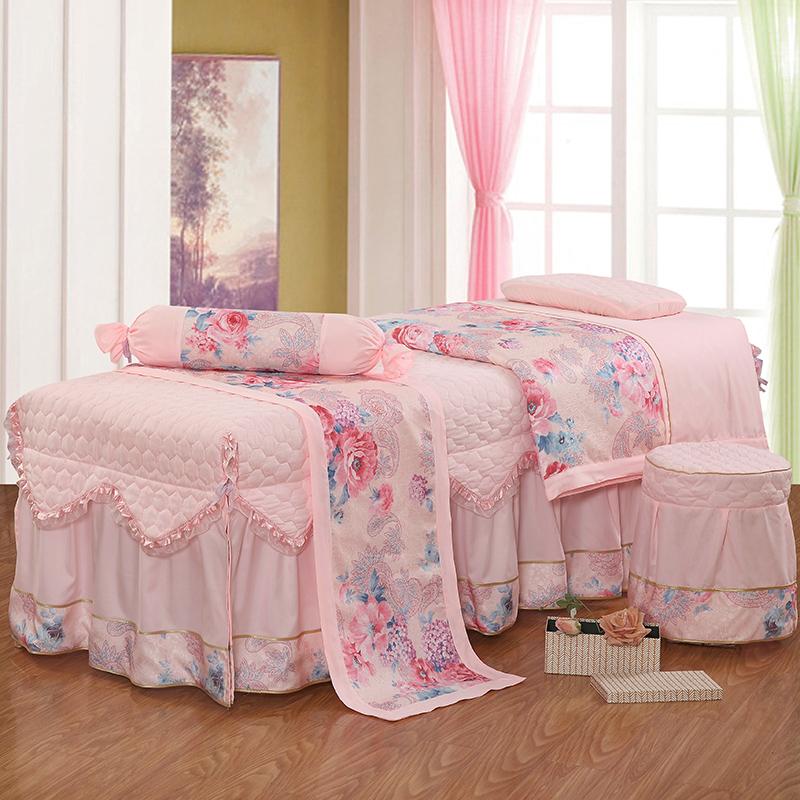 Jin Yuxin thân thiện với da cotton màu rắn vẻ đẹp salon giường bìa bốn bộ của cơ thể massage phòng khám sức khỏe trải giường giường đặt