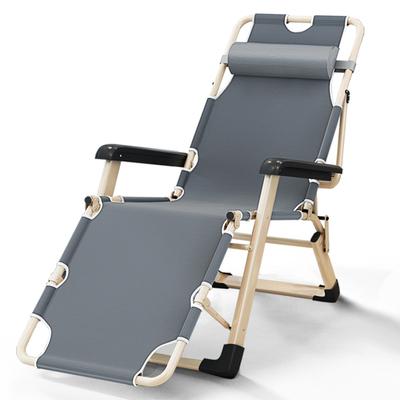躺椅折叠午休简易单人阳台家用休闲沙滩便携超轻懒人睡觉午睡椅子