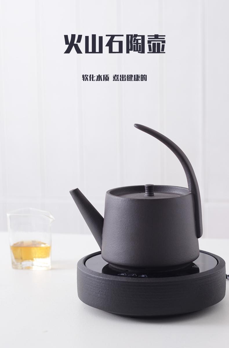 Cooking pot home small flower pot kettle high temperature resistant ceramic tea set tea Japanese large capacity girder pot