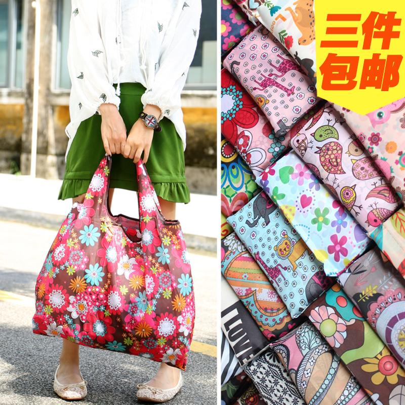 尼龙购物袋日本定制款超大环保袋防水便携袋女单肩袋实用折叠号A5