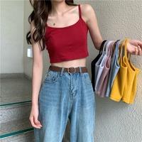 Летом женщины носят камзол короткий приталенный Внутри езды без Футболка с длинным рукавом школьников Xiaoqing новый Сексуальная база верх одежда