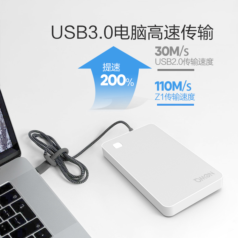 NewQ Z1 smart wireless mobile hard disk 1t wifi Cloud storage Apple Huawei  mobile computer dual-use encryption