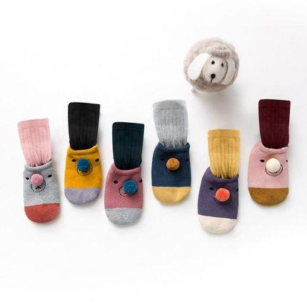 婴儿袜子秋冬纯棉加厚宝宝地板袜可爱儿童防滑两件套鞋袜新生儿袜,领取淘宝优惠券5元