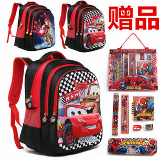 Child car Lightning McQueen schoolbag children boys pupils in kindergarten boys one hundred twenty-three to five-year