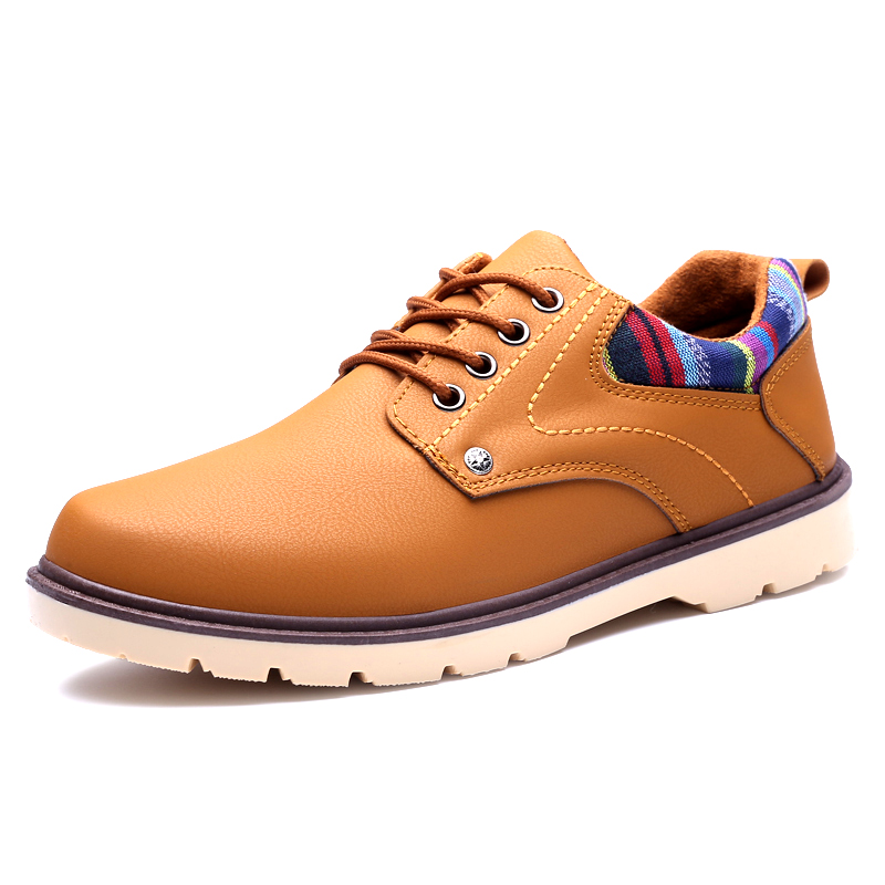2019 spring new waterproof non-slip workwear tide shoes British big head shoes low to help casual men's shoes