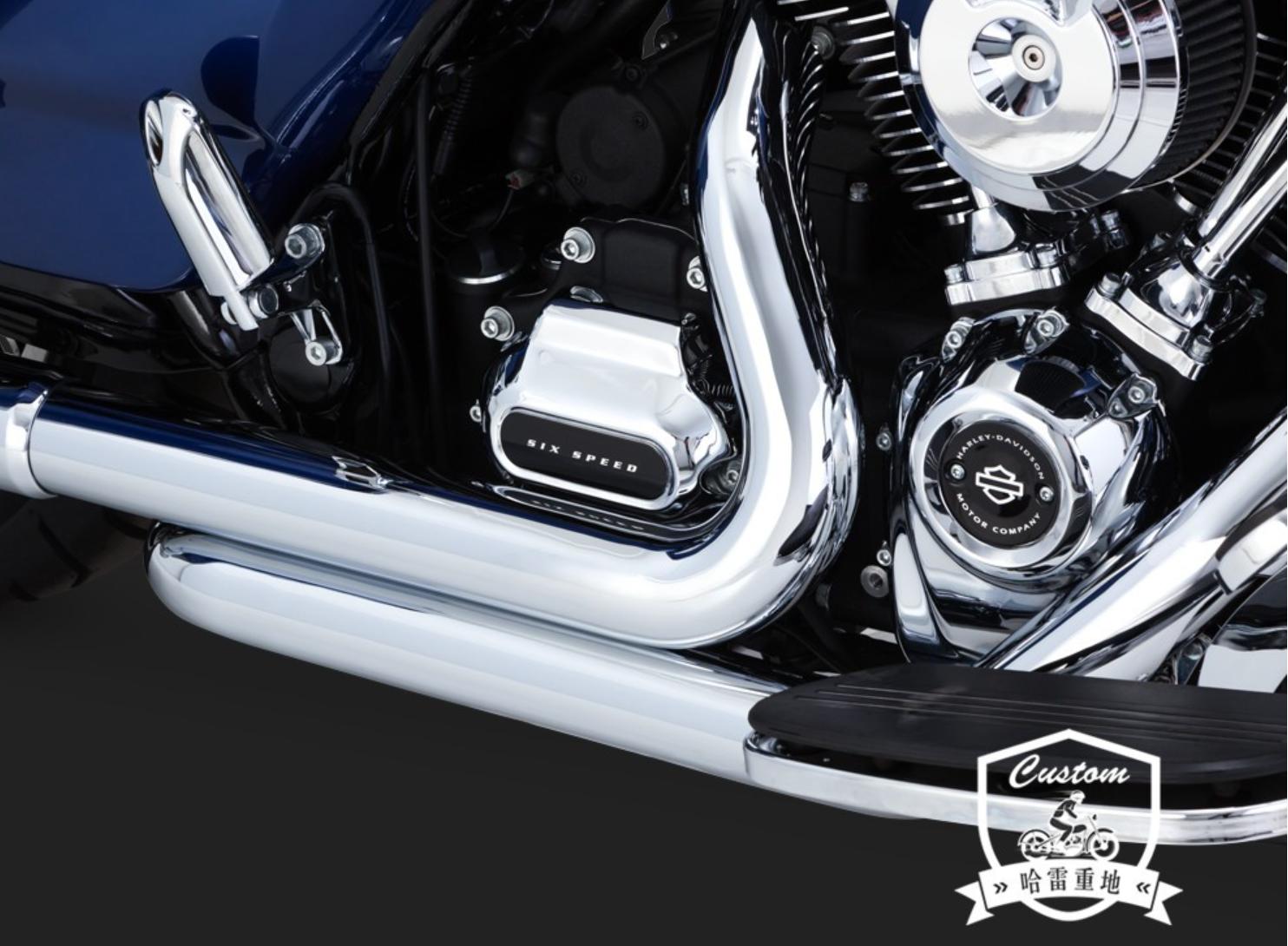 Bộ phận du lịch Harley sửa đổi đường trượt lớn trượt trên đường cao tốc vua song song vh phần ống xả phía trước - Ống xả xe máy