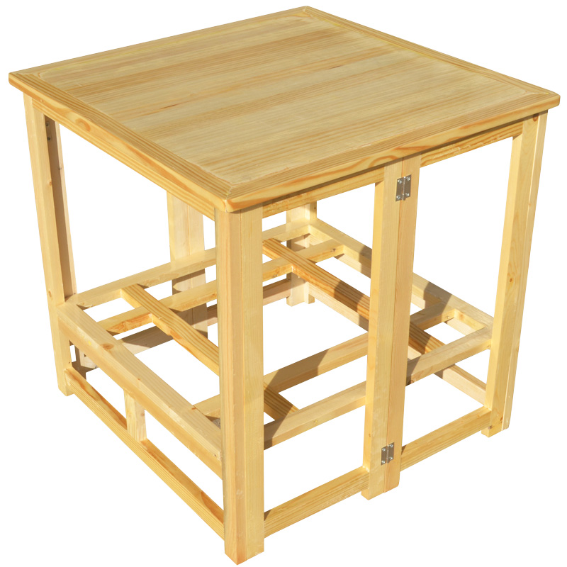 Solid wood grill folding roasted fire bird cage table square roast fire by fire box covered heating table
