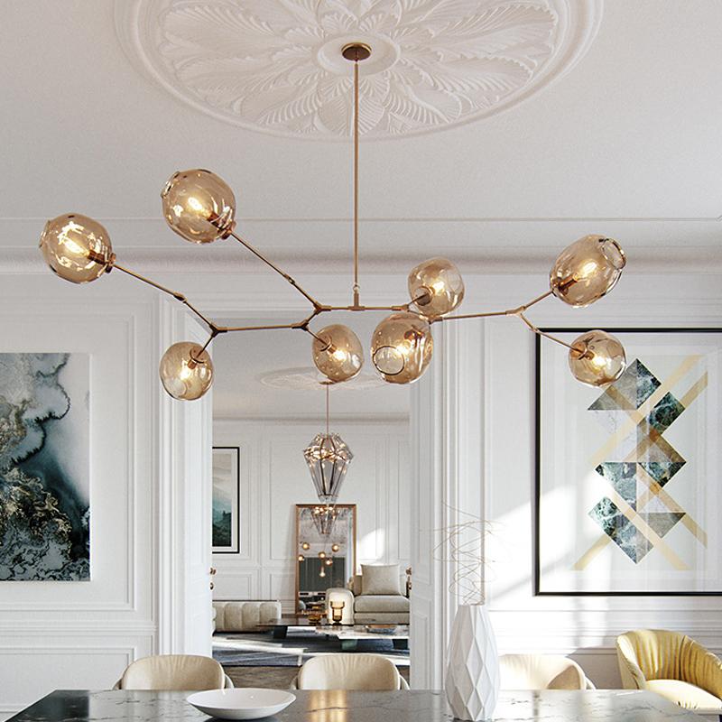 北歐客廳魔豆吊燈現代簡約創意個性燈具吧臺工業風服裝店餐廳吊燈